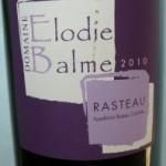 RASTEAU ELODIE BALME