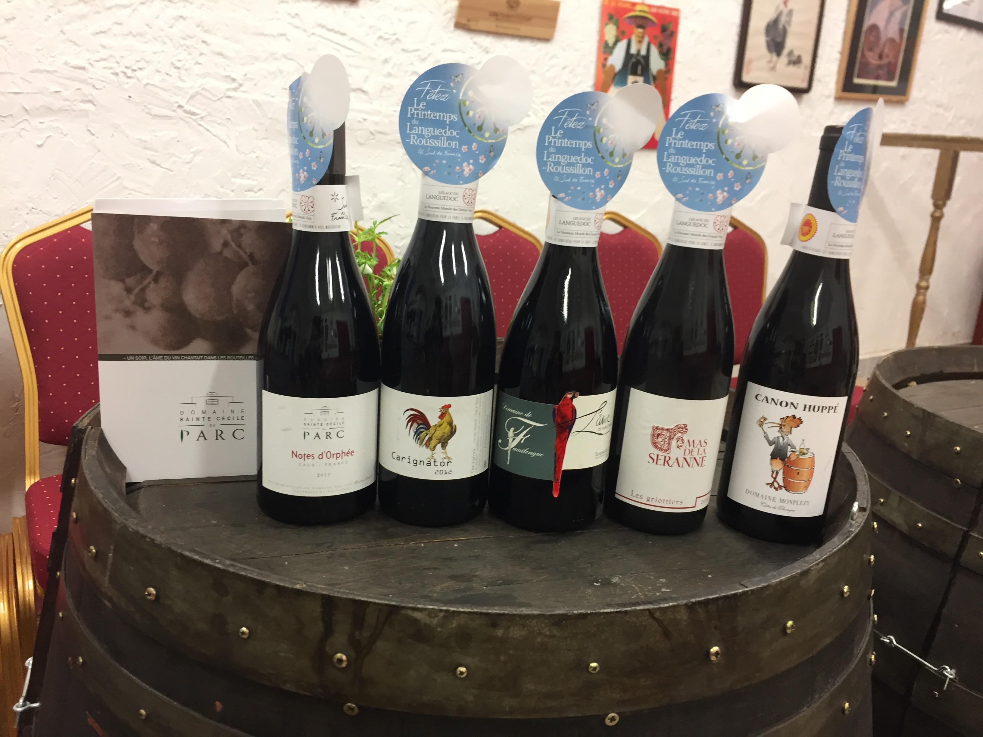 les cuvées des vins du languedoc