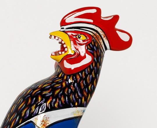 Objet décoration - coq porcelaine - le coq gourmand - marseille